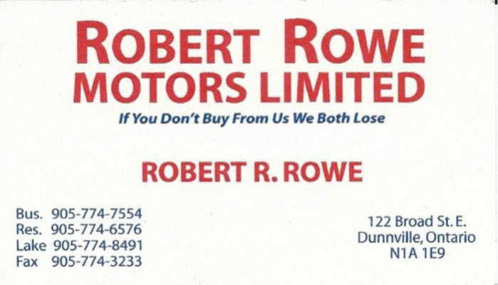 Robert Rowe Motors Ltd
